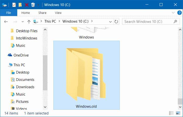 Ce este Windows.OLD și cum se poate șterge acest folder