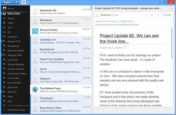 Client de e-mail pentru poșta electronică în Windows