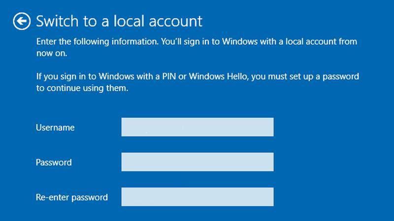 Configurare Windows 10 fără cont Microsoft pe PC sau laptop