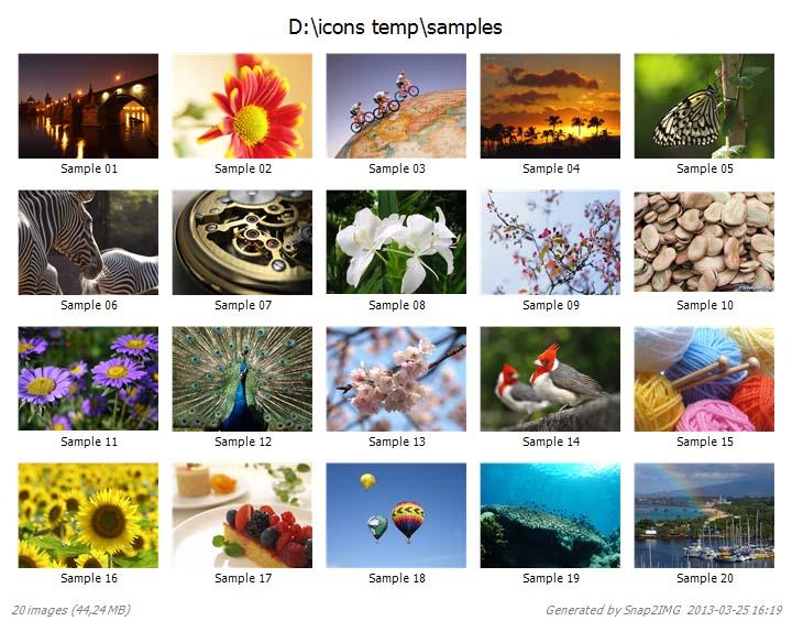 Generează miniaturi din imagini direct dintr-un folder