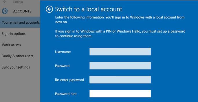 Instalare Windows 10 fără cont Microsoft pe PC sau laptop setari la cont utilizator local
