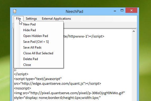 Notepad cu interfață tabulară pentru calculator sau laptop