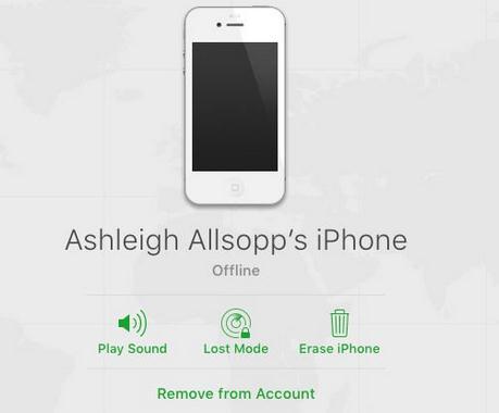 Resetare parola (codul de blocare) iPhone sau iPad stergere iphone din icloud