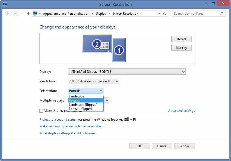 Rotire ecran Windows 10
