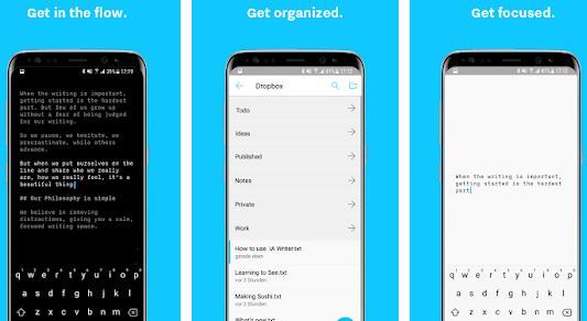 Aplicații de scris documente texte pentru Android sau iphone