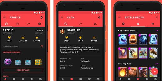 Aplicații pentru Clash Royale Android sau iPhone Starfire
