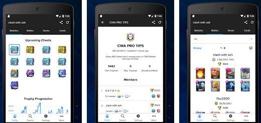 Aplicații pentru Clash Royale Android sau iPhone Stats Royale