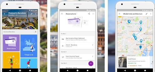 Aplicații pentru vacanțe excursii Android sau iPhone Google Trips