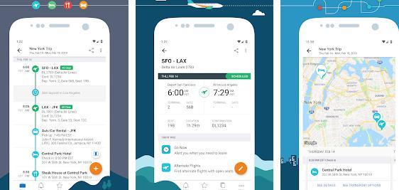Aplicații pentru vacanțe excursii Android sau iPhone TripIt