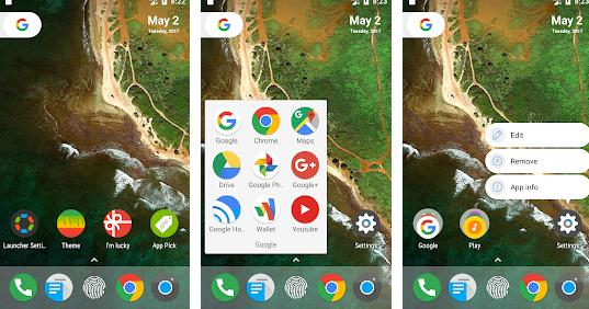 Launchere Android cel mai bun lansator pentru Android N Launcher