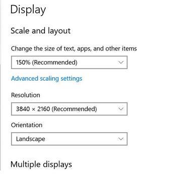 Mărește sau micșorează textul în Windows sau browser rezolutie ecran