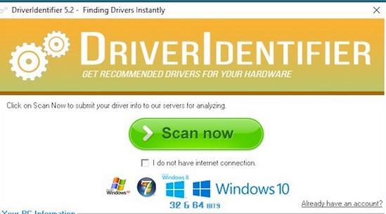 Programe pentru drivere actualizare sau detectare DriverIdentifier