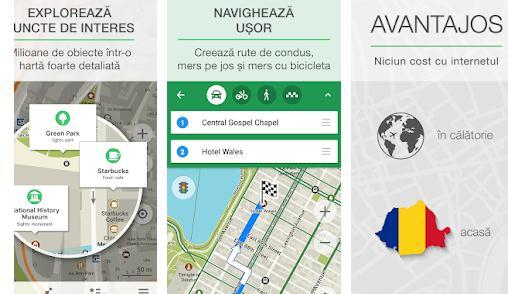 Aplicații GPS offline Android Maps.me