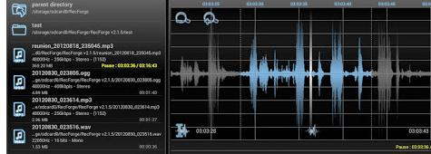 Aplicații de înregistrat vocea pentru telefon Android RecForge Lite - Audio Recorder