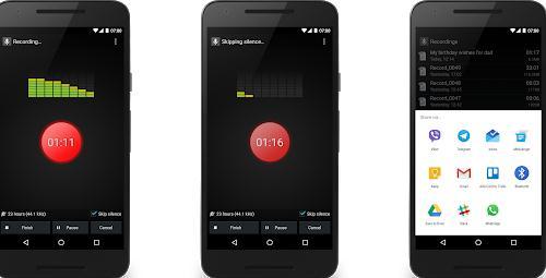Aplicații de înregistrat vocea pentru telefon Android Smart Voice Recorder