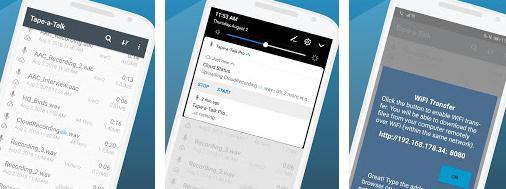 Aplicații de înregistrat vocea pentru telefon Android Tape-a-Talk Voice Recorder