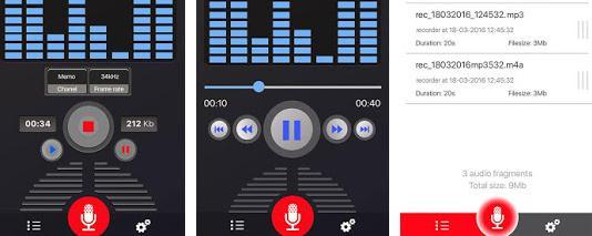 Aplicații de înregistrat vocea pentru telefon Android Voice Recorder