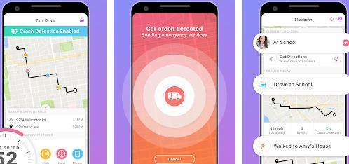 Aplicații de aflat unde se află o persoană Android iPhone Localizator de familie - GPS life360