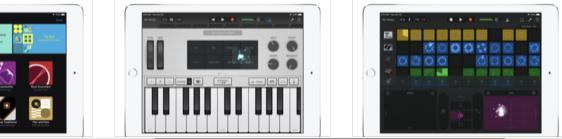 Aplicații de compus muzică la pian, orgă, sau chitară GarageBand