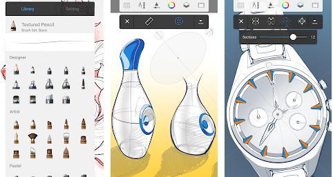 Aplicații de desenat pe telefon Android sau iPhone Autodesk SketchBook