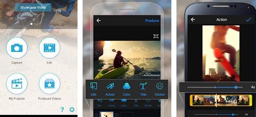 Aplicații de editat video pentru telefon Android sau iPhone Cyberlink ActionDirector