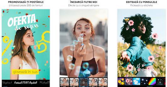Aplicații de făcut colaje din poze sau video pe telefon Android sau iphone PicsArt