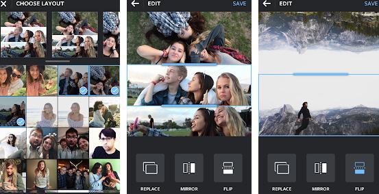 Aplicații de făcut colaje din poze sau video pe telefon Layout from Instagram