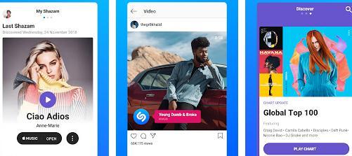 Aplicații de identificat recunoscut melodii Android iPhone Shazam