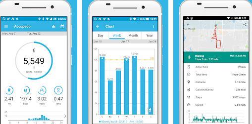 Aplicații de numărat pașii (Pedometru) Android sau iPhone Accupedo Pedometer - Step Counter