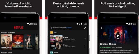Aplicații de văzut filme online pe Android sau iPhone Netflix