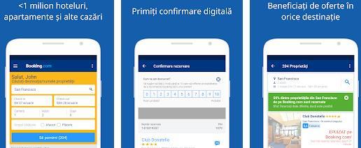 Aplicații pentru economisirea banilor Android sau iPhone Booking