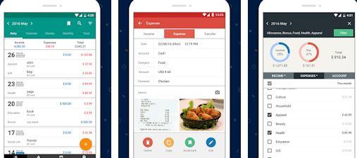 Aplicații pentru economisirea banilor Android sau iPhone Money Manager