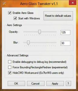 Orice fereastră transparentă în Windows 8