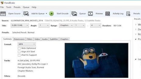 Programe de convertit video pentru Windows sau Mac Handbrake
