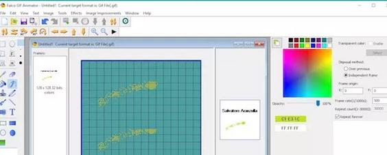 Programe de făcut GIF-uri 3D pe PC sau laptop Falco GIF Animator