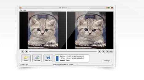 Programe de făcut GIF-uri 3D pe PC sau laptop GIF Optimizer Free