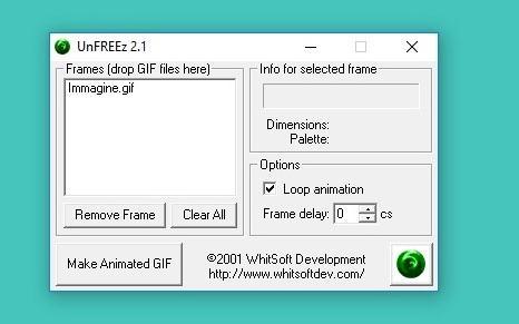 Programe de făcut GIF-uri 3D pe PC sau laptop UnFREEz