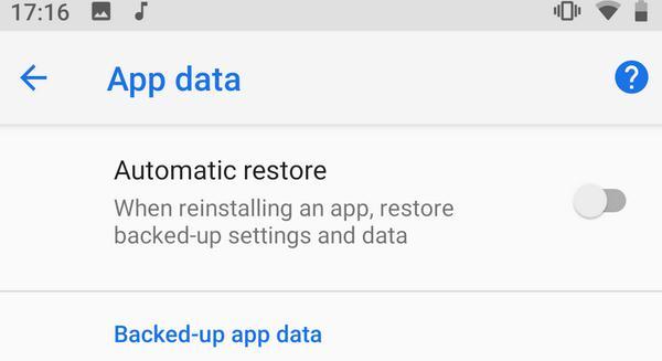 Restaurare din copia de rezervă Android