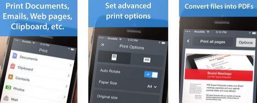 Aplicație pentru imprimare Printer Pro iphone