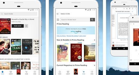 Aplicații de citit cărți pe telefon pentru Android sau iPhone Amazon Kindle