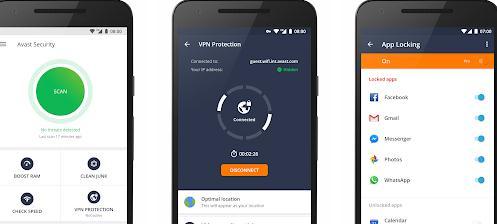 Aplicații pentru antivirus securitate telefon Android Avast Antivirus
