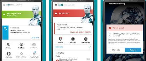 Aplicații pentru antivirus securitate telefon Android Eset Mobile Security & Antivirus