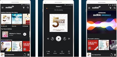 Aplicații pentru descărcat cărți Android sau iPhone Audible
