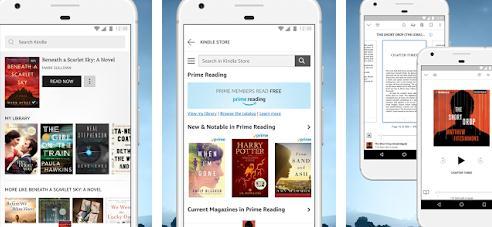 Aplicații pentru descărcat cărți Android sau iPhone Kindle di Amazon