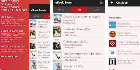 Aplicații pentru descărcat cărți Android sau iPhone eBook Search
