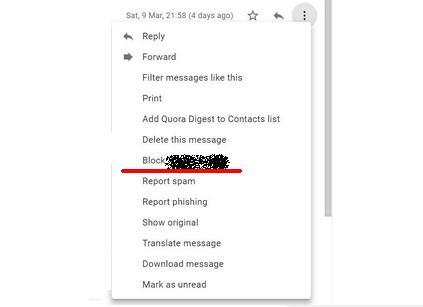 Blocare emailuri nedorite Gmail din browser