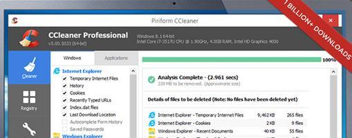 Cele mai bune programe pentru Windows 10 CCleaner