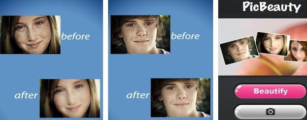 Aplicație de schimbat fața PicBeauty