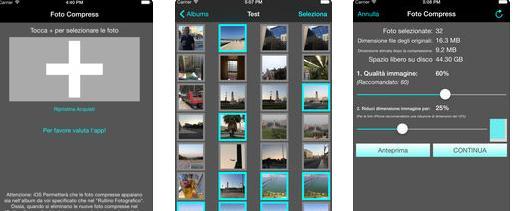 Aplicații de făcut poze mai mici pentru Android sau iPhone Photo Compress