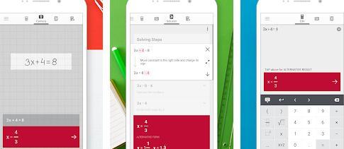 Aplicații de rezolvat probleme la matematică pe telefon Photomath